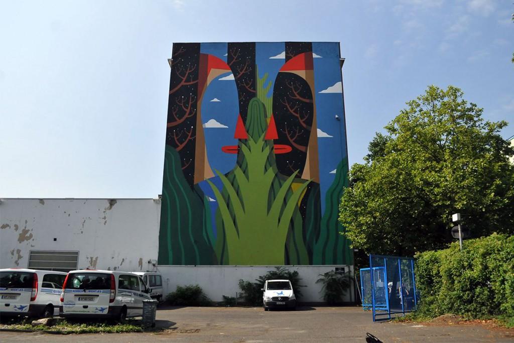 berlin street art Agostino Iacurci mural facebook  look kreuzberg
