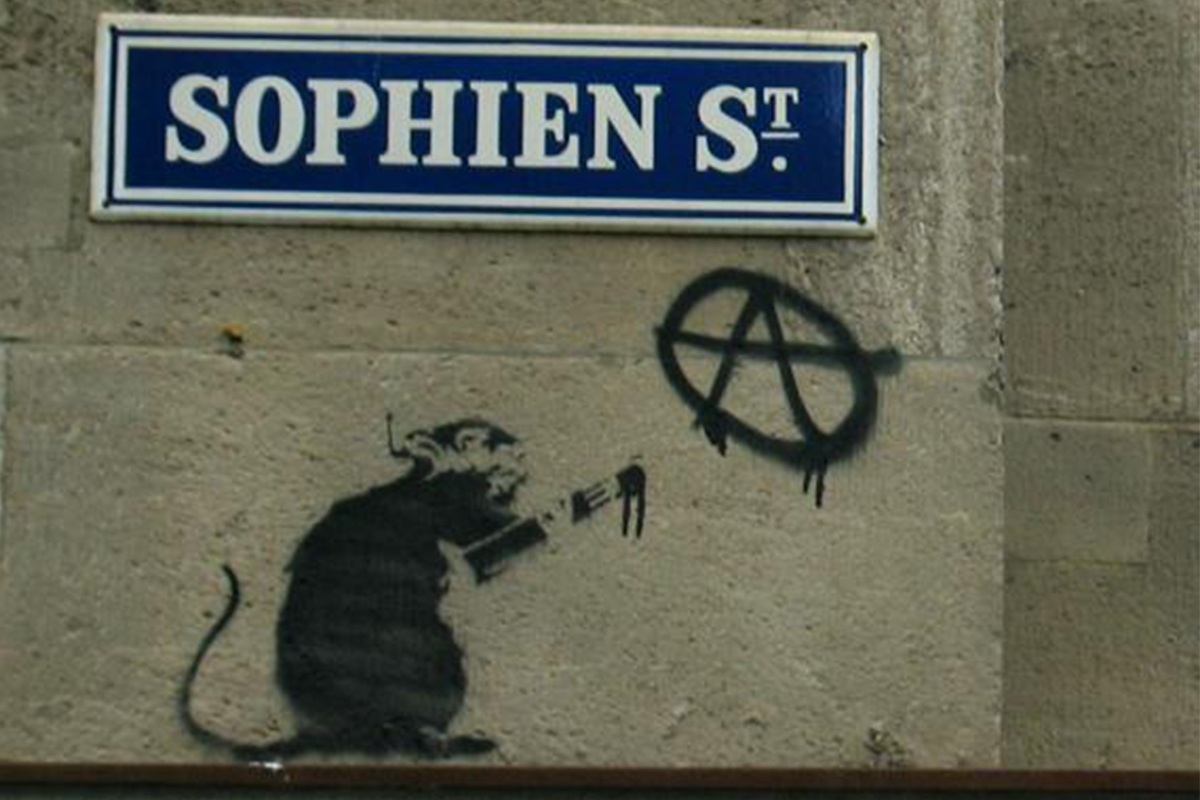 banksy berlin Banksy Rat, Berlin Mitte, 2004 work new artist facebook video ago news urban