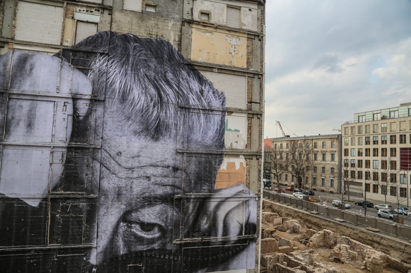 The JR Street Art Project Wrinkles of the City in Berlin - In Honor ...
