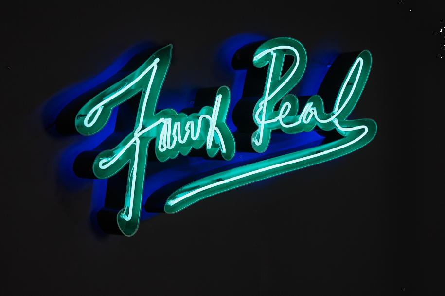 Olivia Steele - Faux Real, 2016. Hand blown and coloured neon tubes, metal, plexiglass, LED 75x150x17cm. Courtesy of the artist and Circle Culture Gallery, photo: Markus Georg