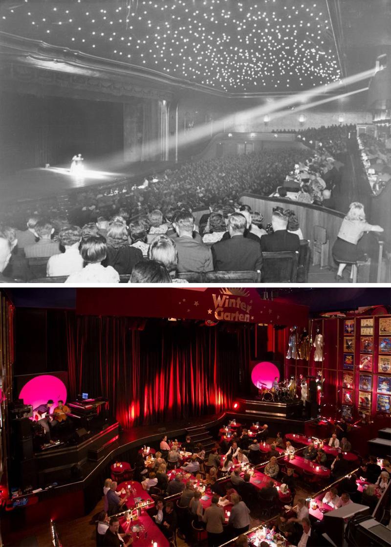 Wintergarten Varietè, Berlin movie theater in 1940 and today