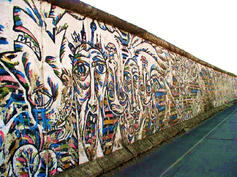 East Side Gallery. Image via Wikipedia, new york, artist, streets, work, german, painted, close,  best, modern, popular, history, people, cold, view, germany world  urban  view post