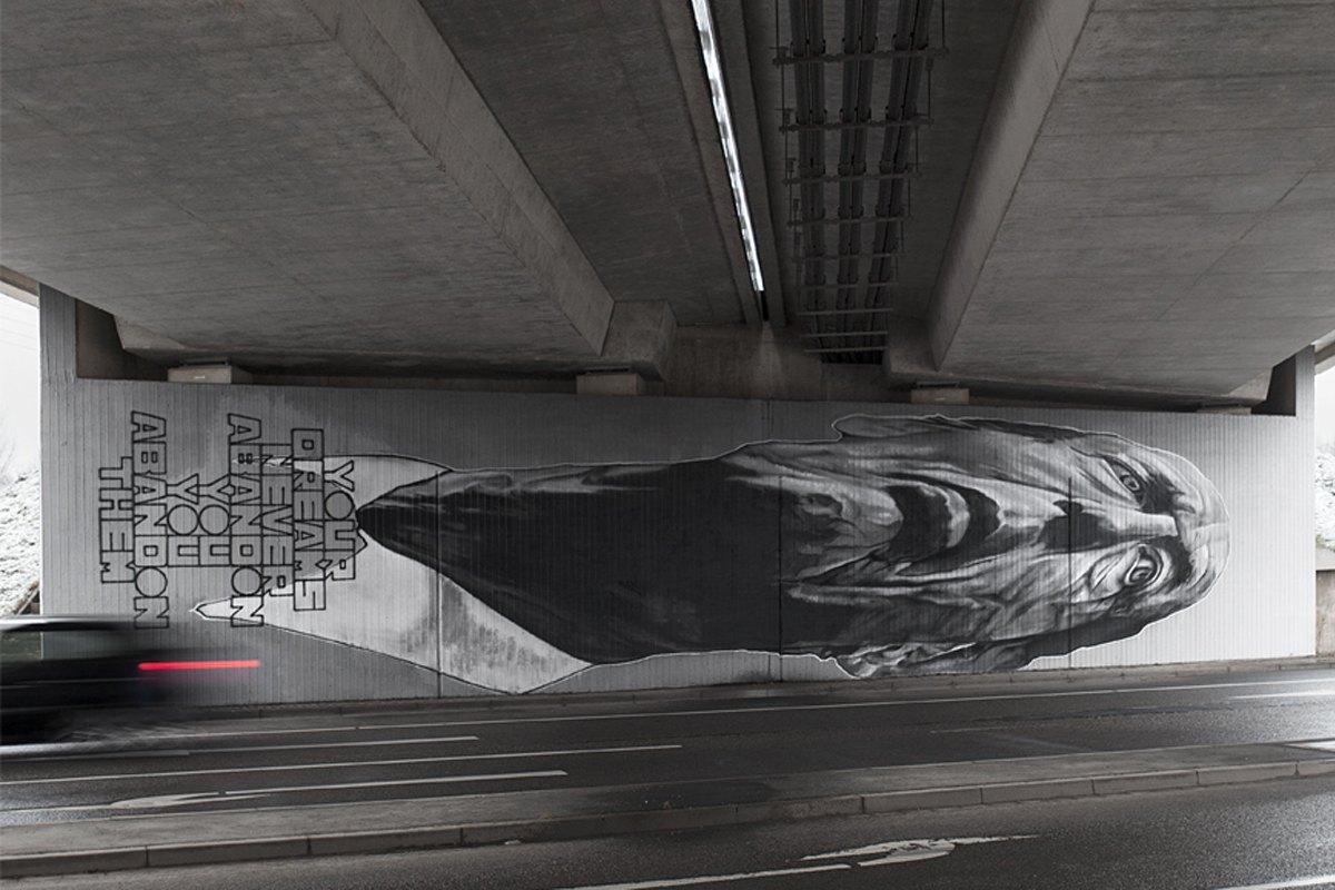 street art germany EBC - Your Dreams Never Abandon You, Chemnitz, Germany