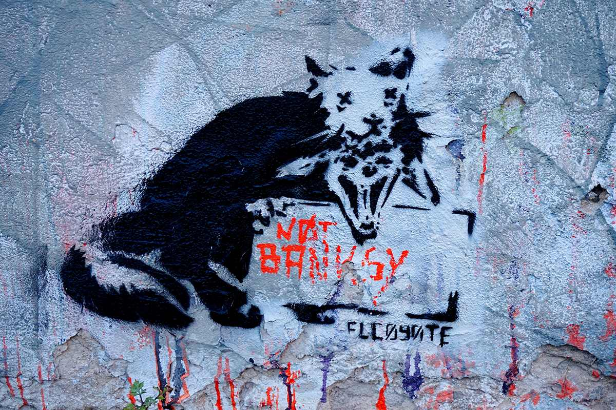 El Coyote - Not Banksy, west Berlin