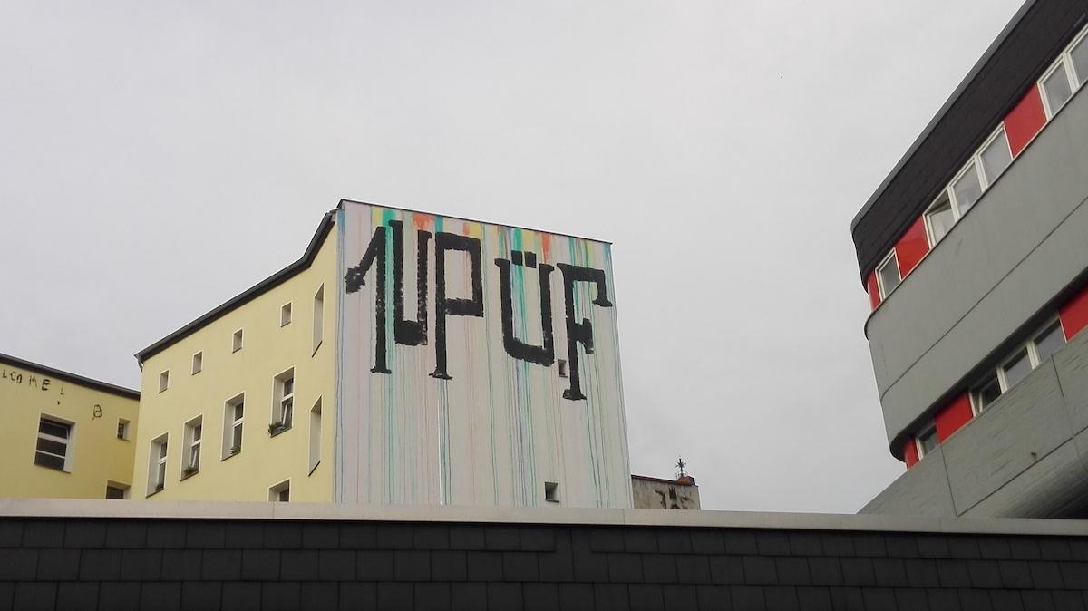 1up üf wiener rainbow graffiti heaven spot photo by katia h